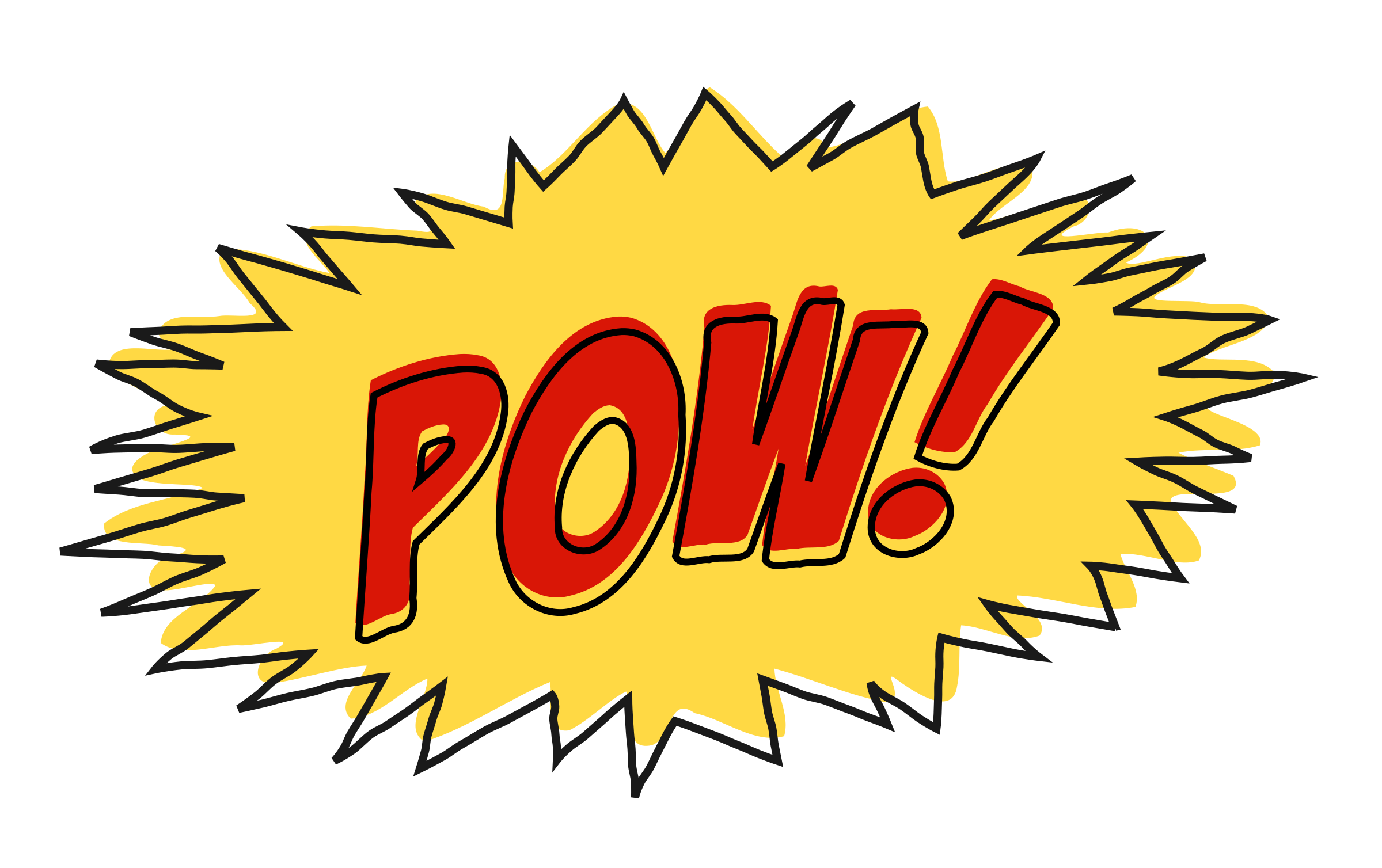 vector library Pow transparent background. Clipart comic book sound