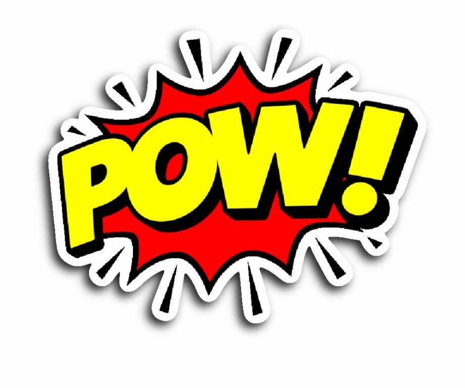 clip free download Pow transparent. Comic png book free