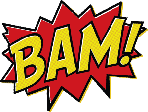 banner royalty free library Batman Bam Text Message Clipart