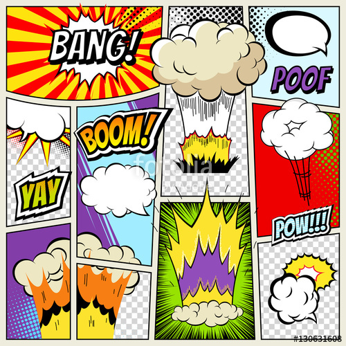 clipart download Abstract Creative concept vector comics pop art style blank