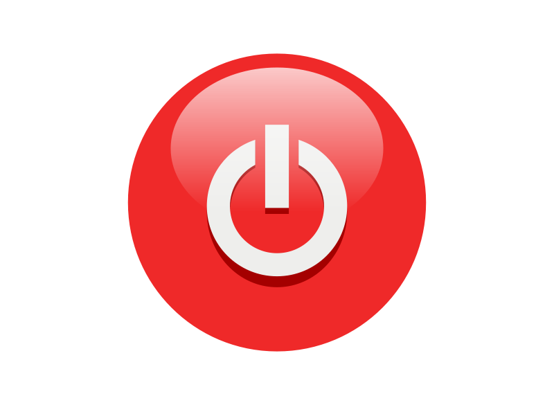 clip free Free red button clip. Power clipart.