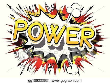graphic download Power clipart. Vector illustration comic book.