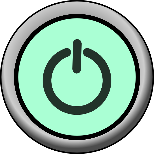 clip library library Vector buttons cross. Power button on green