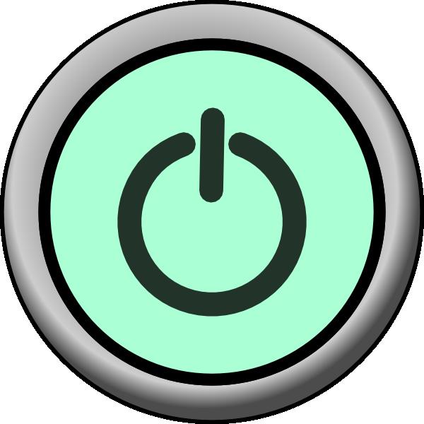 clip art stock On green background clip. Vector button power