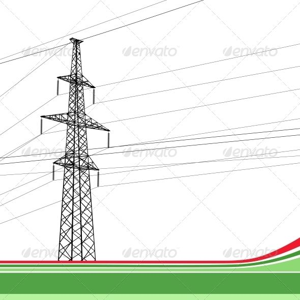svg free library High voltage tower background. Vector bundles power transmission
