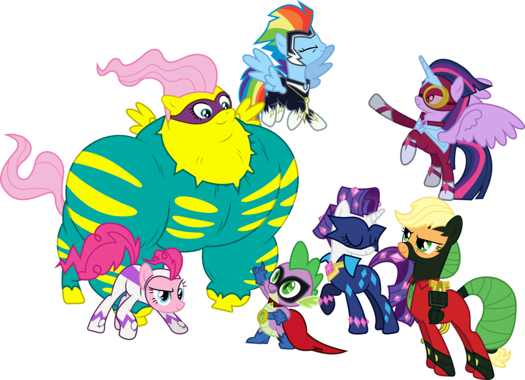 vector free download Power Ponies saves the day by GameMasterLuna on DeviantArt