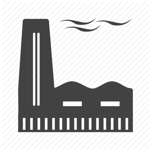 clip black and white library Industrial Process Glyph