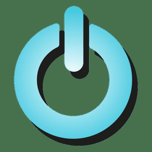 clip transparent Gradient power button icon