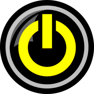 freeuse stock Yellow Power Button Clip Art at Clker