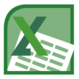 black and white ms excel logo