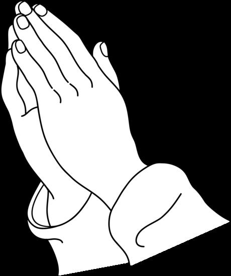 svg transparent stock Praying Hands Line Art