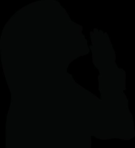 jpg transparent Girl Praying Silhouette Clipart
