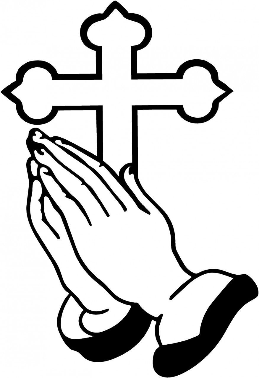 picture library Free clipart of praying hands. And cross crafts