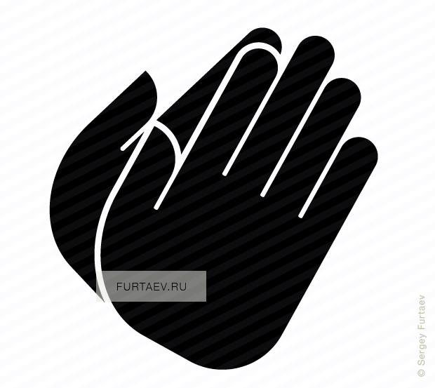 vector black and white library Praying hands vector icon