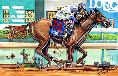 royalty free library Preakness drawing. Beautifully designed stakes drawings.