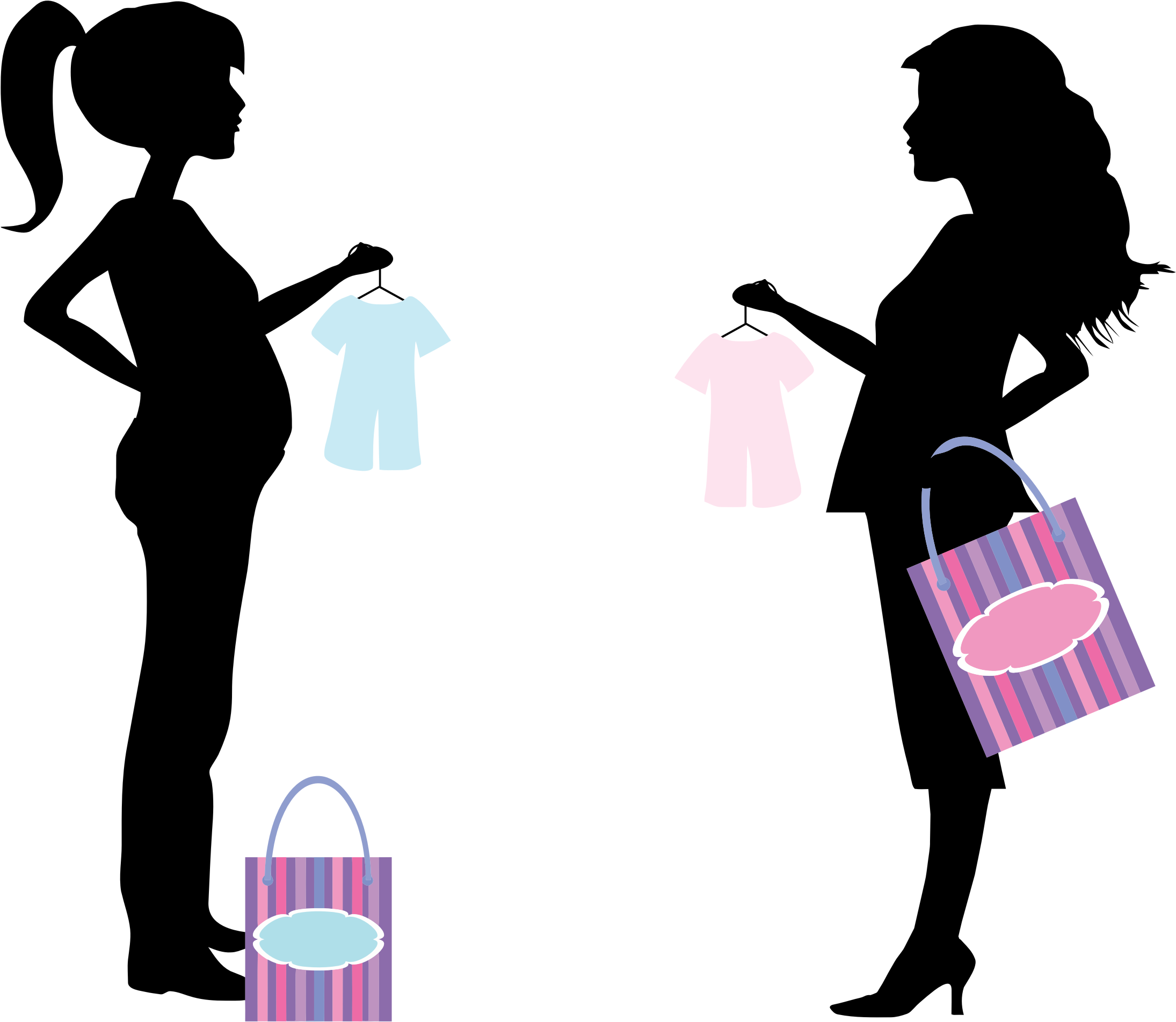 png royalty free Pregnant Women Shopping Icons PNG