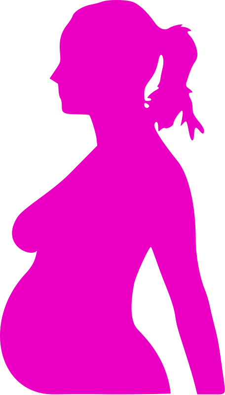 image royalty free download Pregnant Woman Silhouette Clipart at GetDrawings