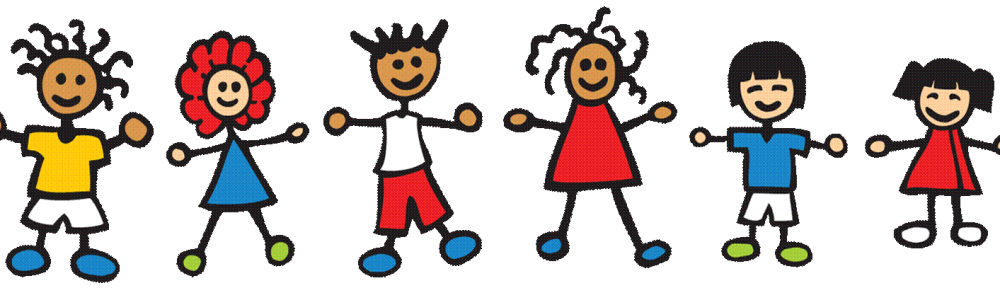 png black and white Cropped children playing clip. Announcements clipart preschool.