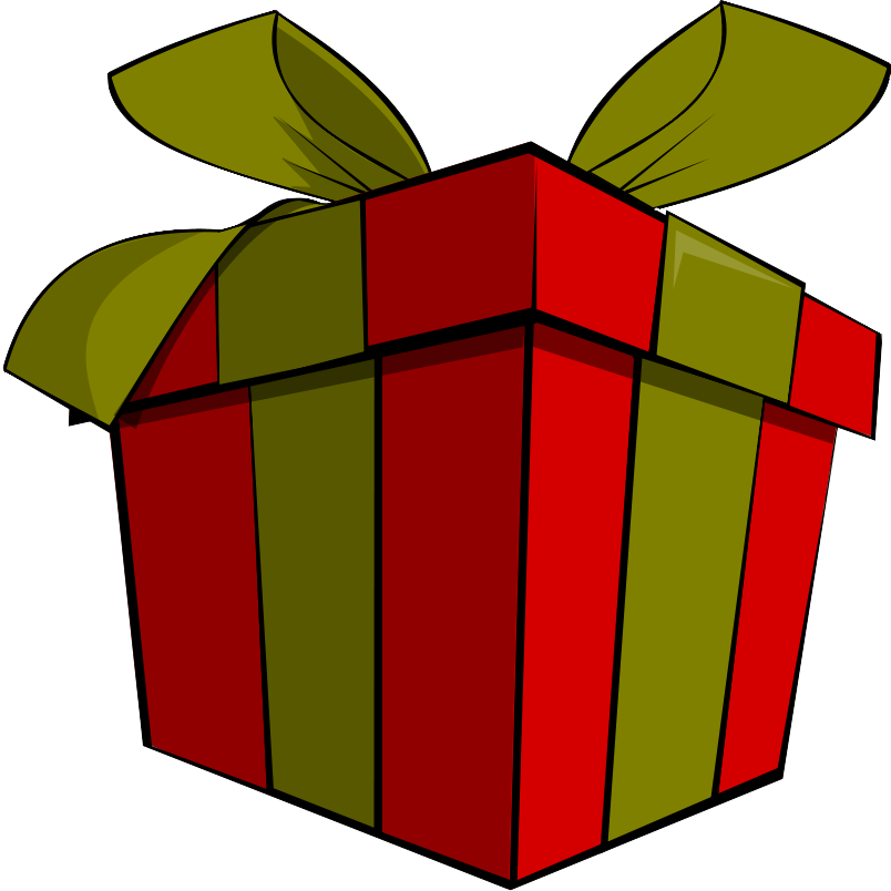 clip art free library Cute Christmas Present Clipart