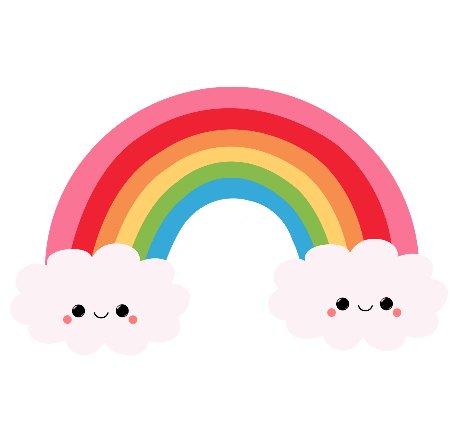 clipart black and white stock drawing rainbows cute #112146868