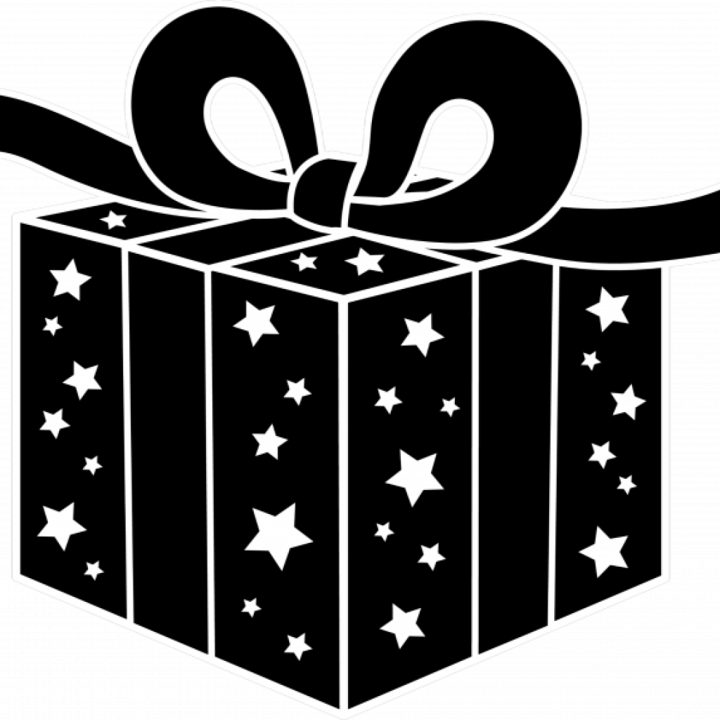 download Presents clipart black and white. Present airplane hatenylo com.