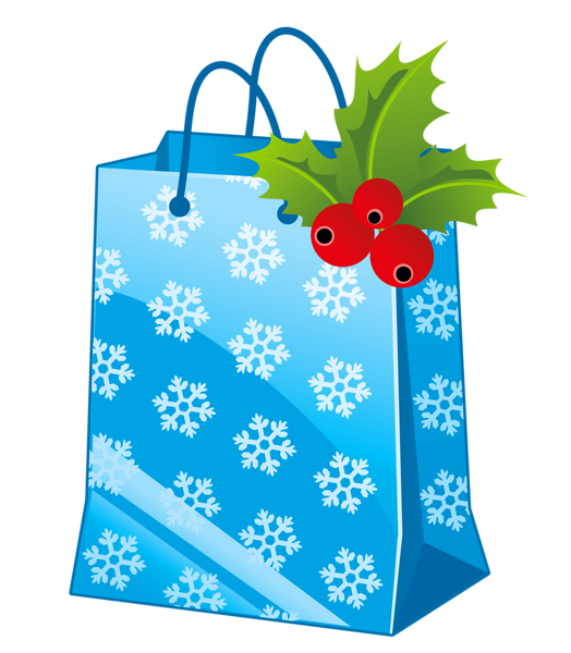 image free Transparent Christmas Blue Gift Box Clipart