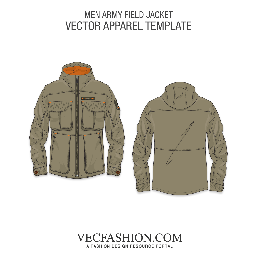 clip art free download Army Field Jacket Vector Template