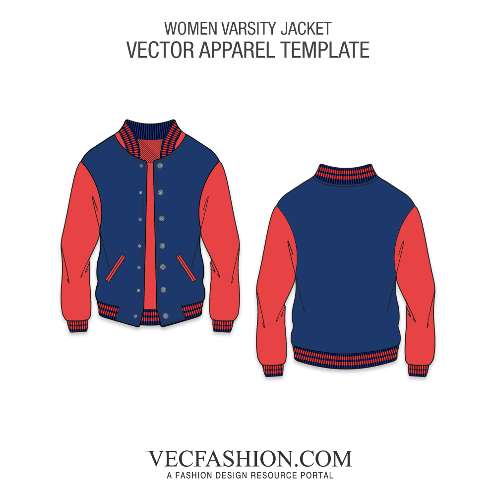 clipart freeuse download Preserver clipart varsity jacket. Vector template.