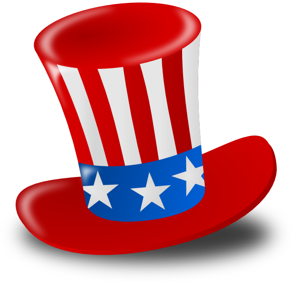 png black and white library Independence Day Hat Clip Art at Clker