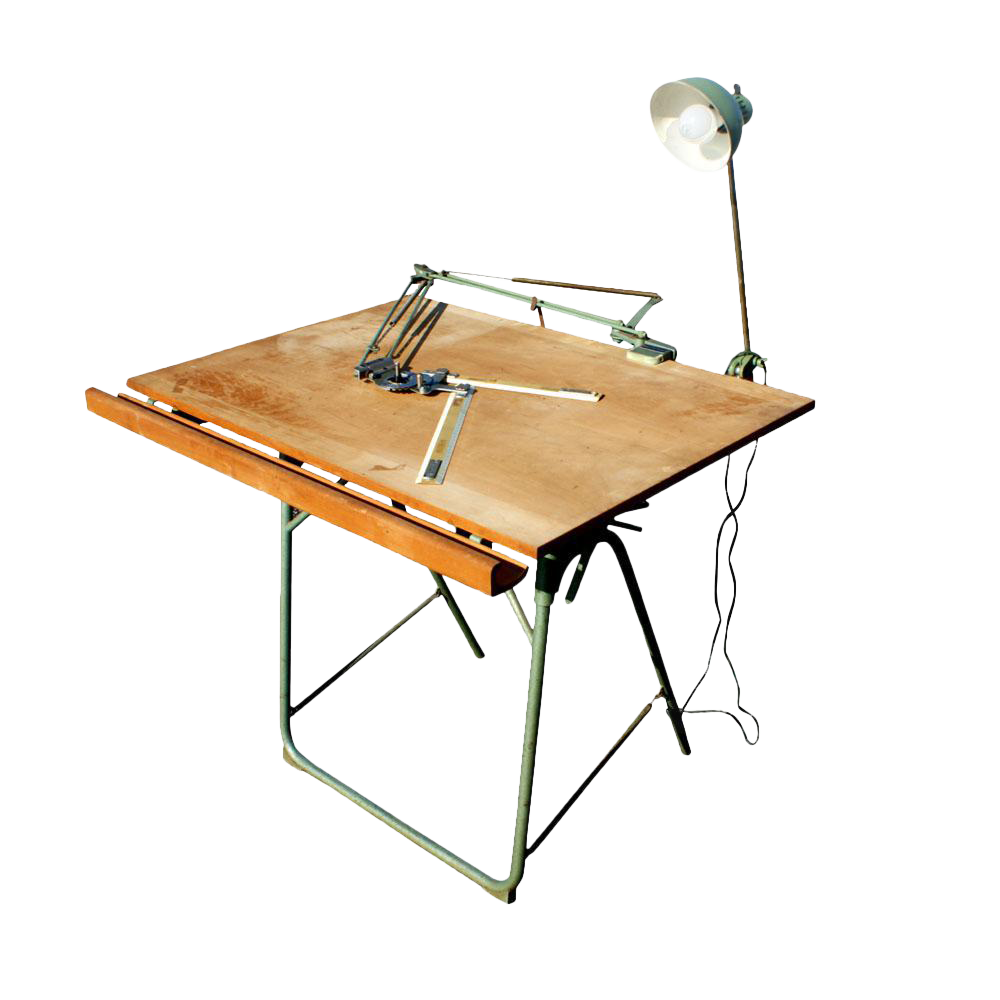 picture transparent download Vintage Christian Dell Folding Drafting Table Mr