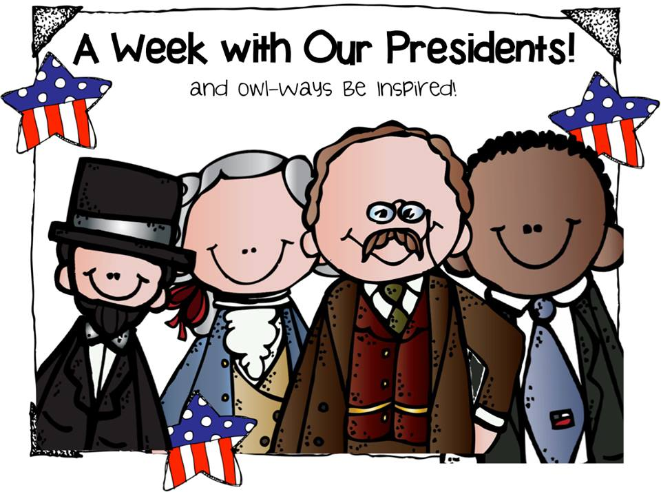black and white Free cute president cliparts. Presidents clipart.