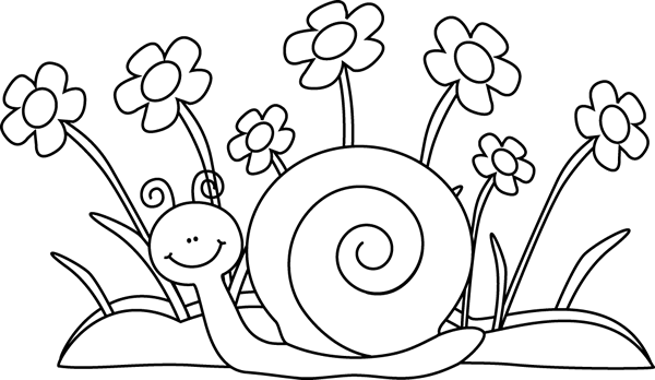 clipart black and white Snail clip art images. Clipart black and white