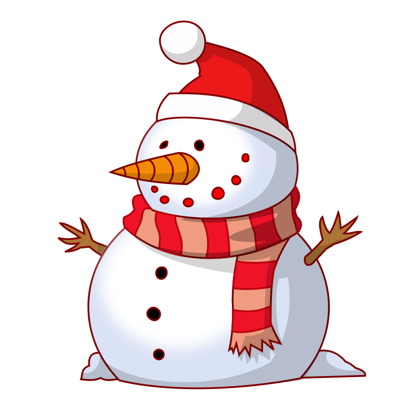 image stock Cute Snowman Free Clipart