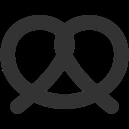 clipart black and white stock pretzel icon