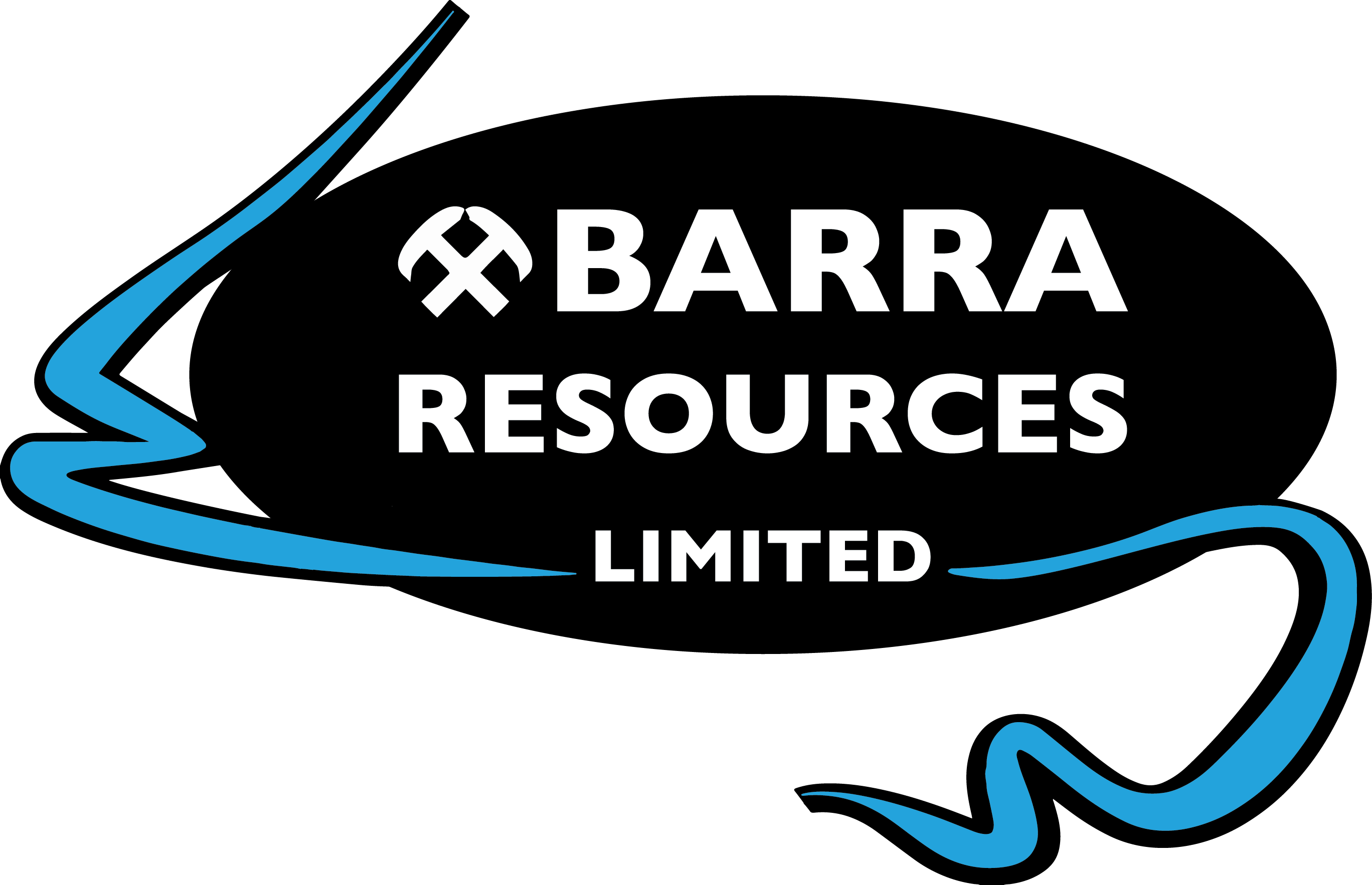 jpg black and white download Barra resources gold cobalt. Price clipart capital resource.