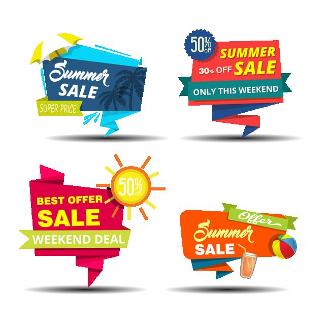 clip art transparent stock Bikini vector summer element. Banner design sale png