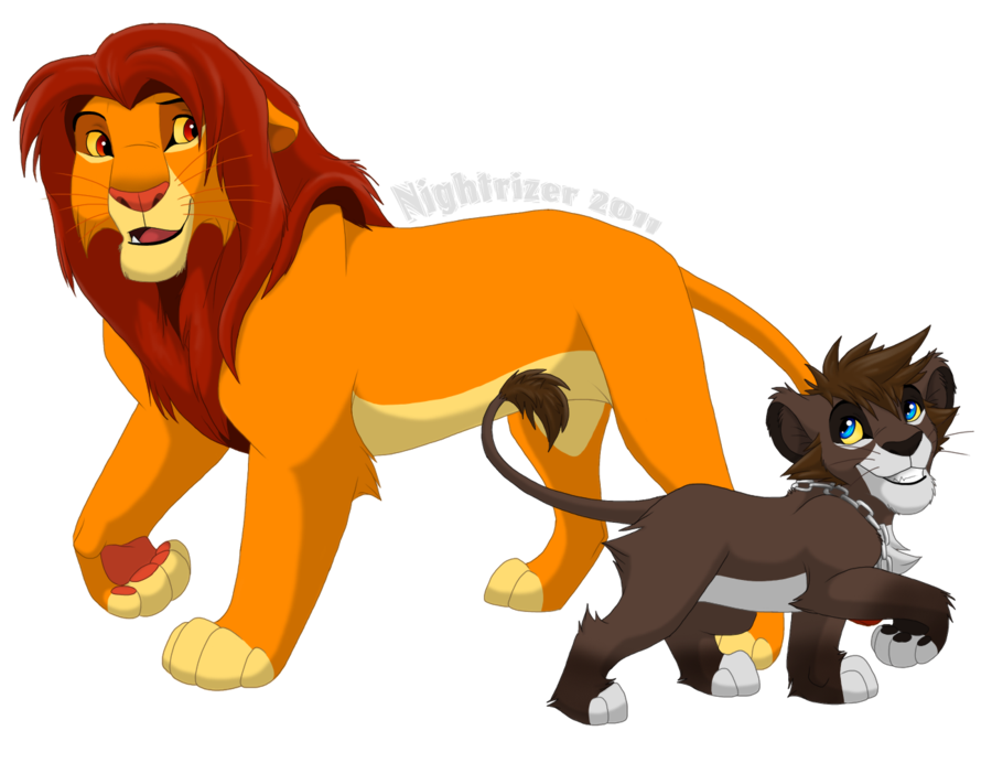vector library Simba and Sora by Nightrizer on DeviantArt
