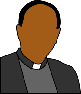 graphic black and white stock Head shoulders clip art. Priest clipart.