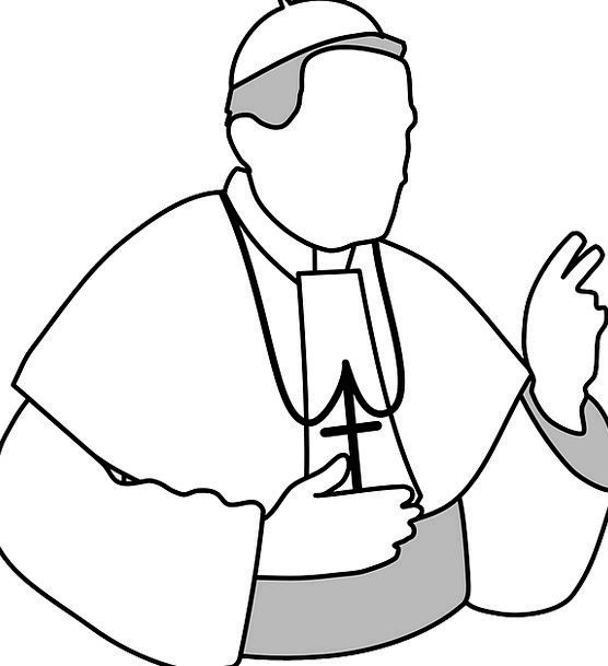 clipart royalty free Priest drawing. Catholic at paintingvalley com