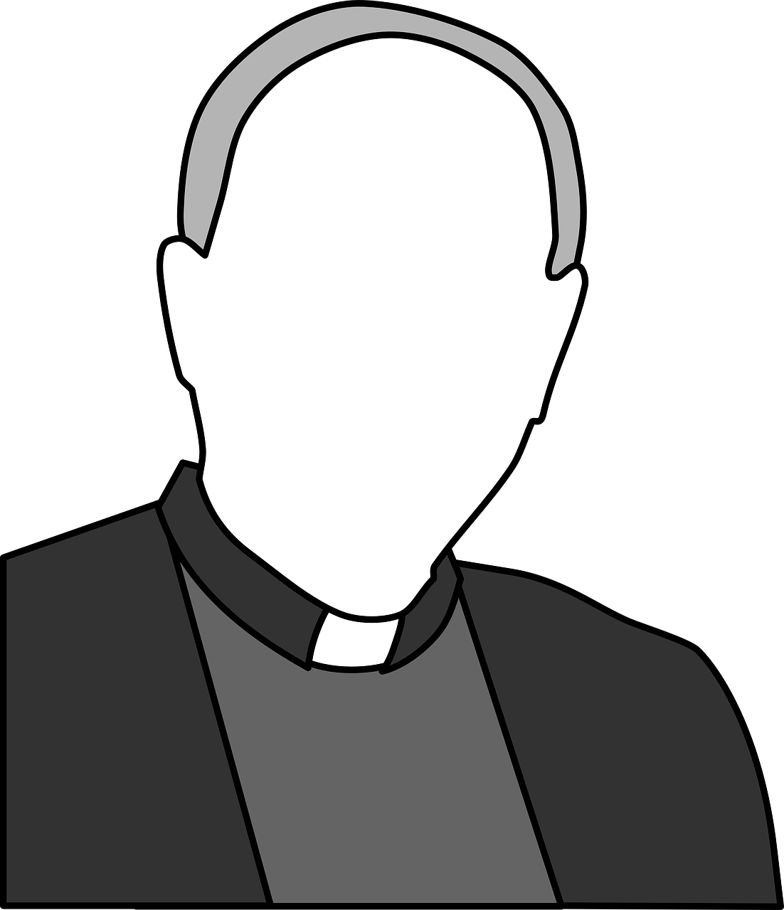 png library Church faith catholicism black. Priest drawing