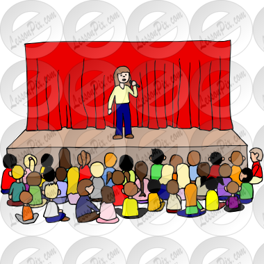 jpg black and white Primary clipart school morning assembly. Group picture for classroom