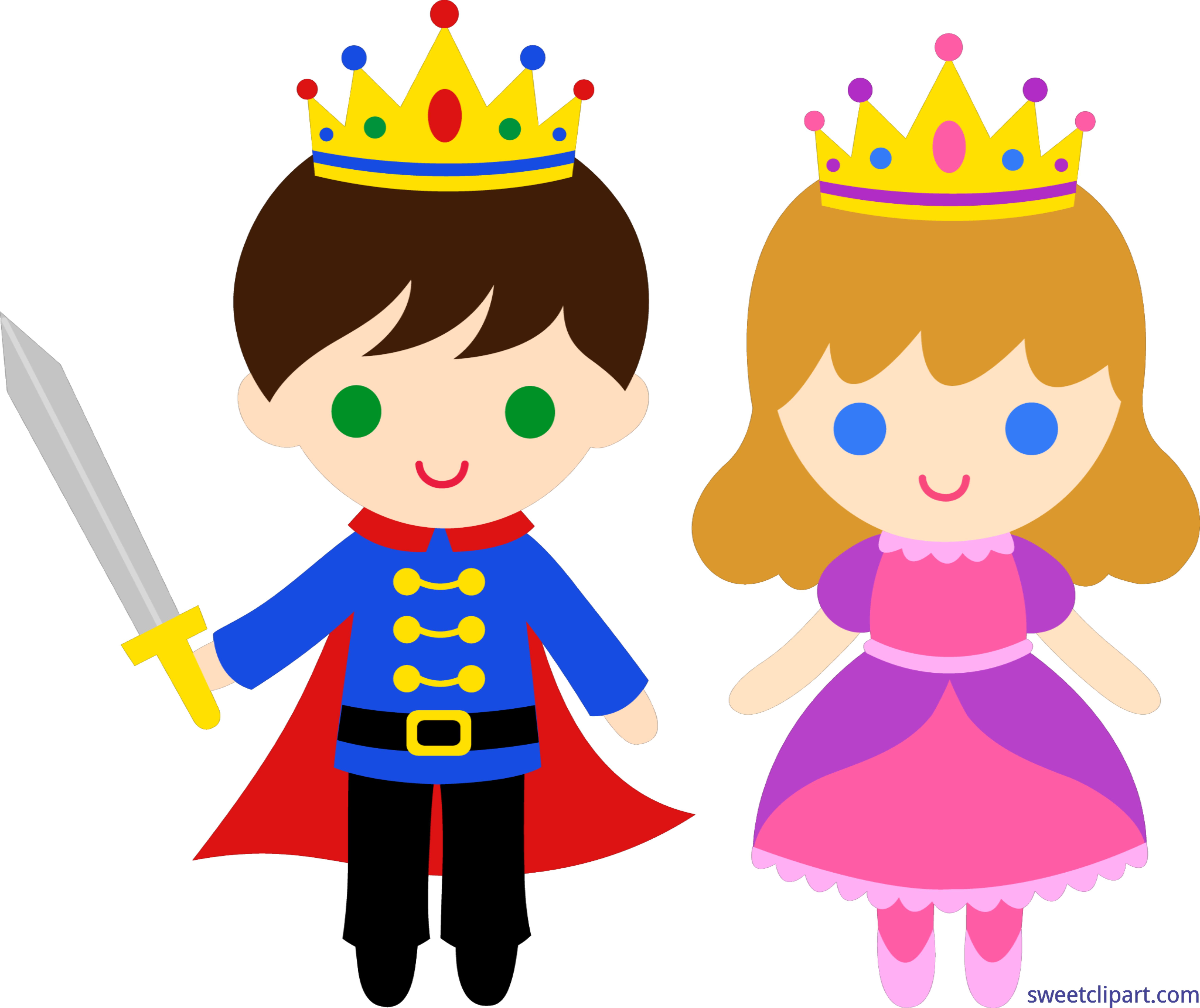 clip art freeuse download Clipart art. Prince and princess clip.
