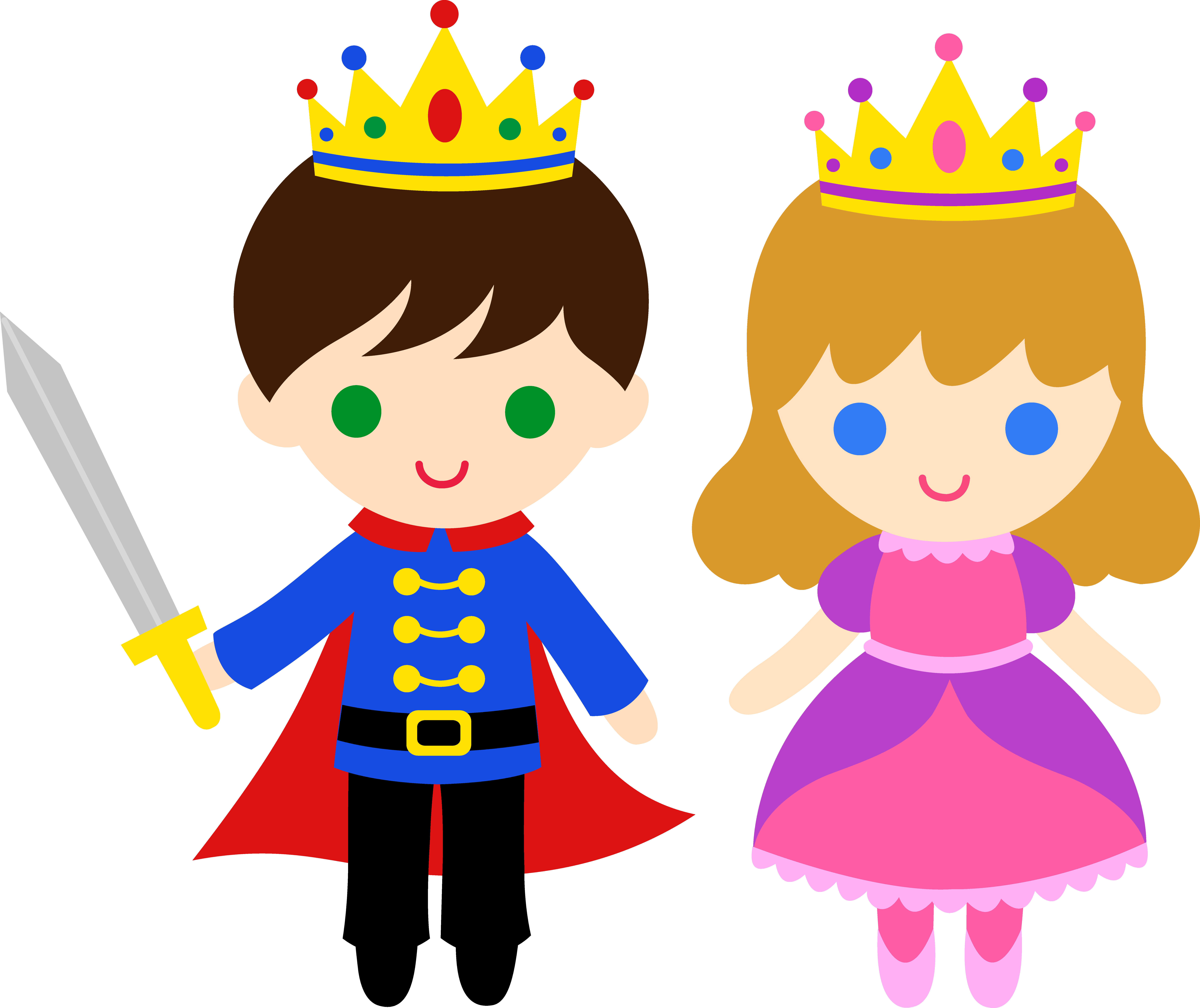 jpg black and white stock Prince and free clip. Drawing princess cute
