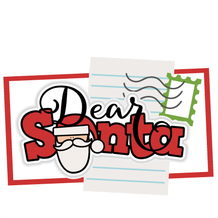 jpg free stock Dear Santa Title SVG scrapbook cut file cute clipart files for