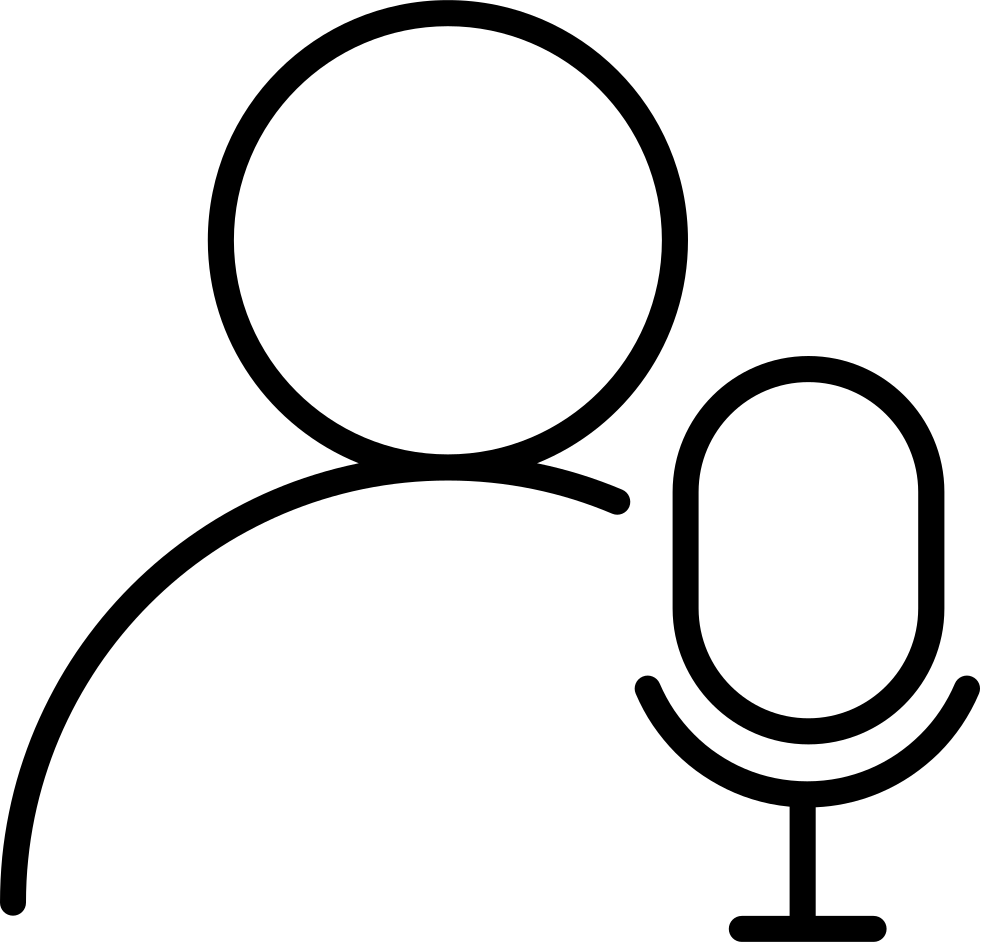 image black and white library Singer Default Svg Png Icon Free Download