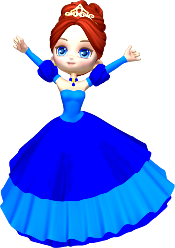 graphic free library Princess In Blue Clipart