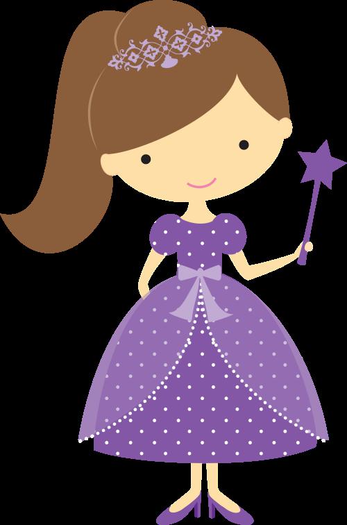 banner freeuse download Princess clipart. Princesa toda de roxo.