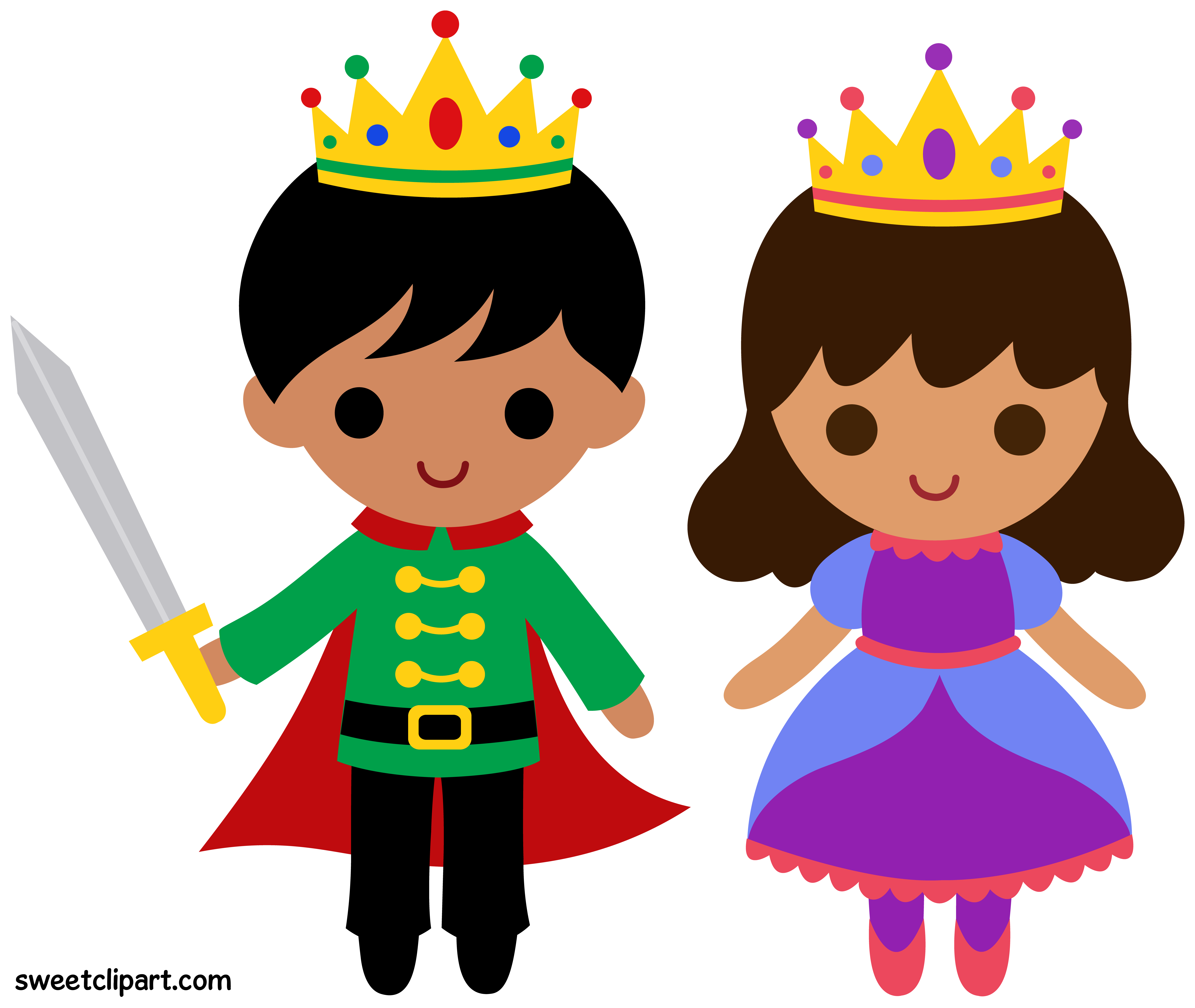 vector library library Prince and clip art. Princess clipart.
