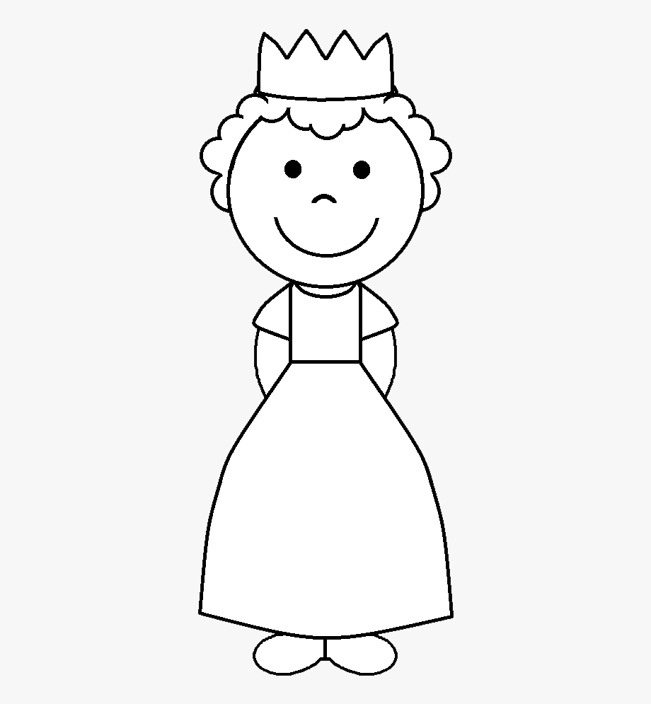 clip freeuse library Background courtesy of face. Princess clipart black and white