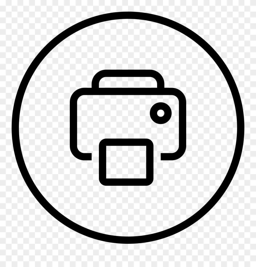 jpg library Print clipart. Icon printer button pinclipart.